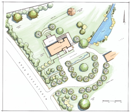 Landscape plan by Lucy Van Liew and Christine Darnell